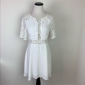 For Love and Lemons NWT White Lace Dress